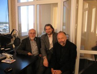 Письменники Юрій Винничук та Андрій Курков на Радіо Такт.