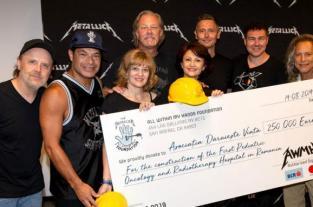 Гурт Metallica надала чверть мільйона євро на будівництво першої дитячої клініки з онкології в Румунії